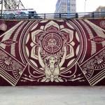 Shepard Fairey New Mural In New York City, USA