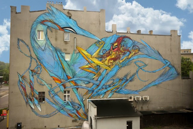 Shida New Mural In Lodz, Poland