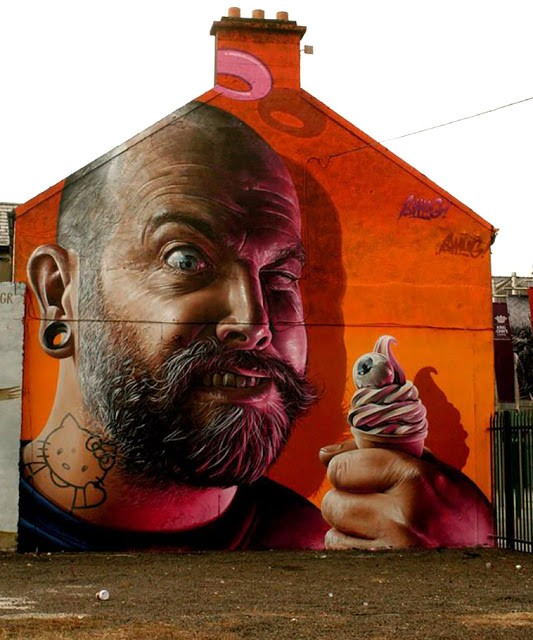 Smug New Mural In Limerick, Ireland