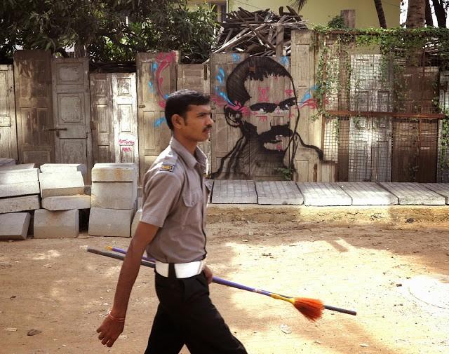 Stinkfish New Street Art Pieces – India, Cuba, Italy