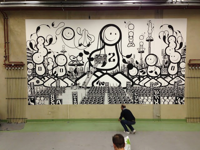 The London Police New Indoor Mural For Goodbye Monopol 2 In Luxembourg