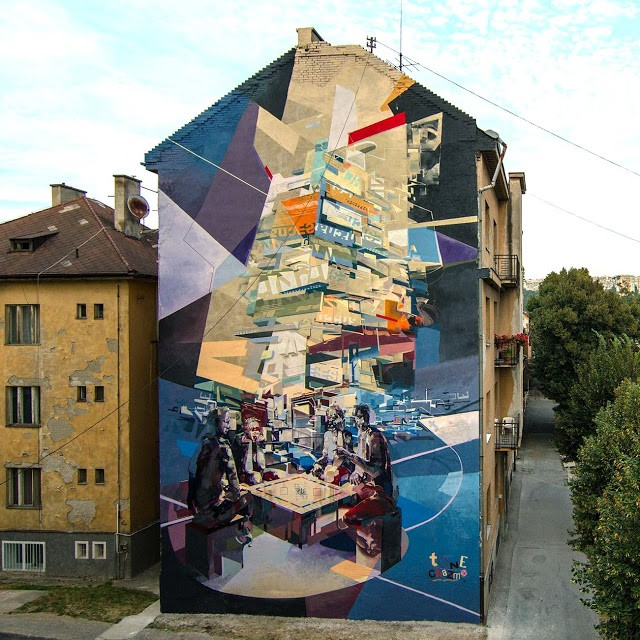 Robert Proch x Chazme New Mural In Kosice, Slovakia