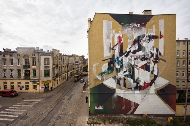 "Robert ""Tone"" Proch New Mural For Fundacja Urban Forms '13 – Lodz, Poland"