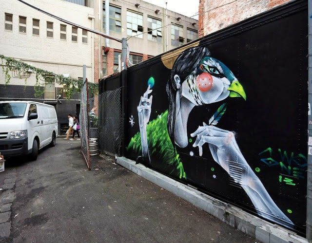 "TWOONE ""You Can't Lie To Her"" New Street Art – Melbourne, Australia"