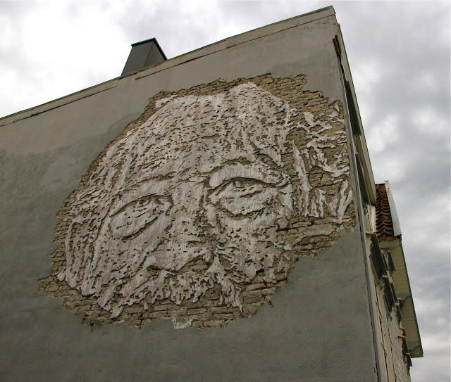 Vhils New Mural For Nuart '13 In Stavanger, Norway