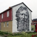 Vhils New Mural In Progress, Vardø, Norway