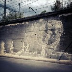 Vhils New Mural In Girona, Spain