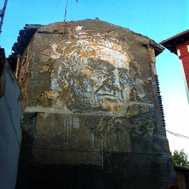 Vhils New Mural For Avant Garde Urbano – Tudela, Spain