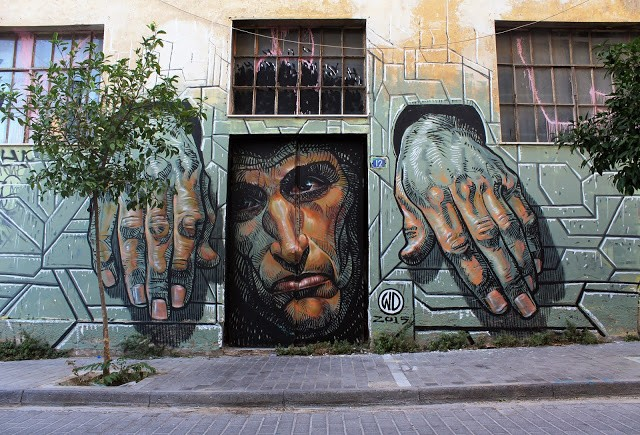 """Hope Dies Last"", a new mural by WD in Athens, Greece"