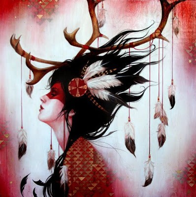 Sylvia Ji 'Red Caribou' New Print Available This Month