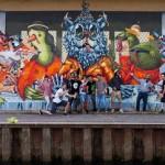 """The Weird """"The Weird Supper""""  New Mural In Saarbruecken, Germany"""