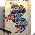 Tristan Eaton paints a giant Napoleon in Paris, France