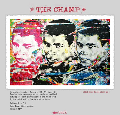 Mr Brainwash 'The Champ' New Print Available 11th January