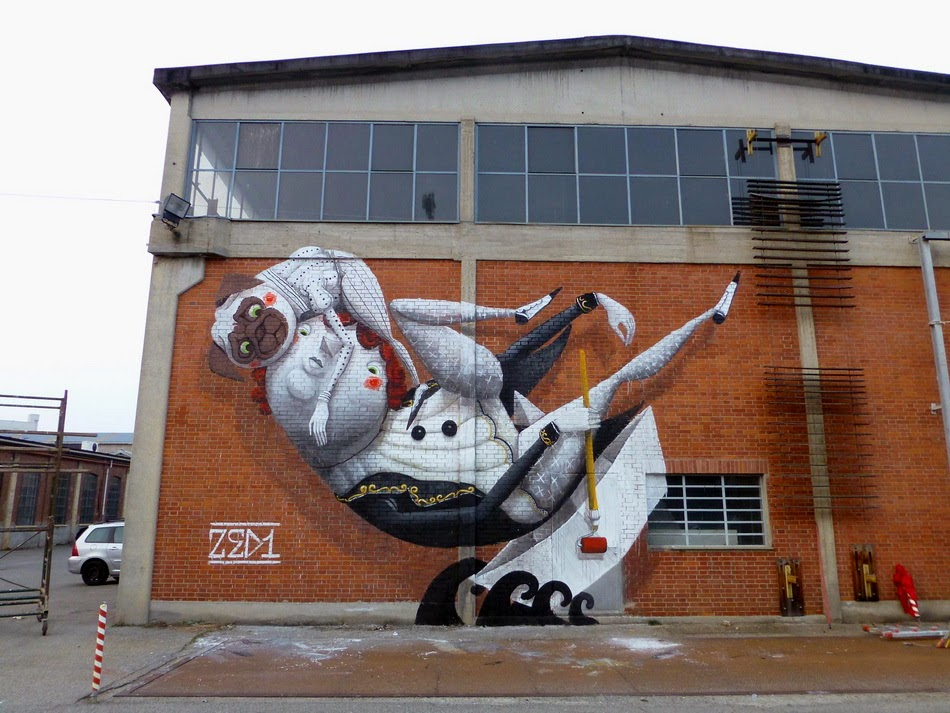 "Zed1 ""The Artist's Boat"" New Mural – Turin, Italy"