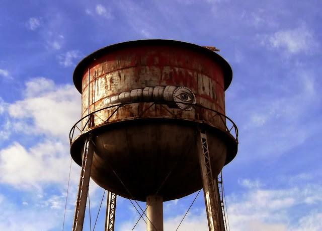 "Phlegm ""Water Tower"" New Street Piece - Lexington, USA"