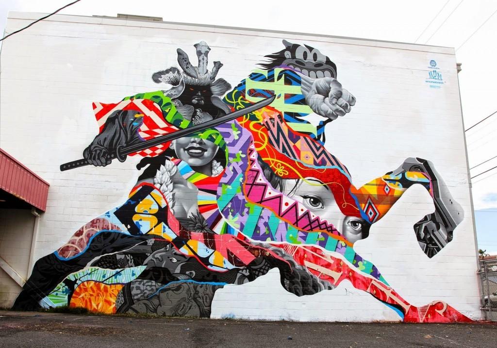 Pow! Wow! '15: Tristan Eaton unveils a new mural in Kaka'Ako, Honolulu