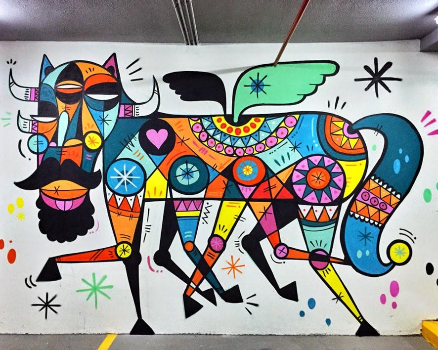 Ruben Sanchez creates a new indoor piece in Dubai, UAE