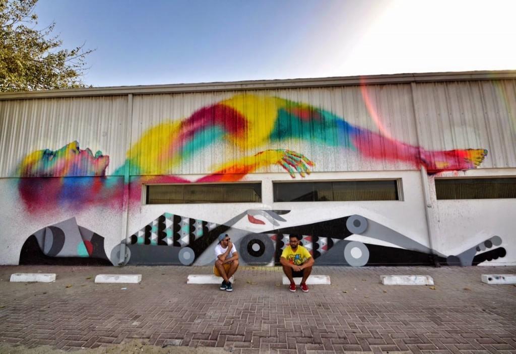 """Ruben Sanchez & Txemy collaborate on """"Astral Travel"""", a new piece in Al Quoz, Dubai"""