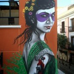 """Fin DAC paints """"Isabelita"""" on the streets of Madrid, Spain"""