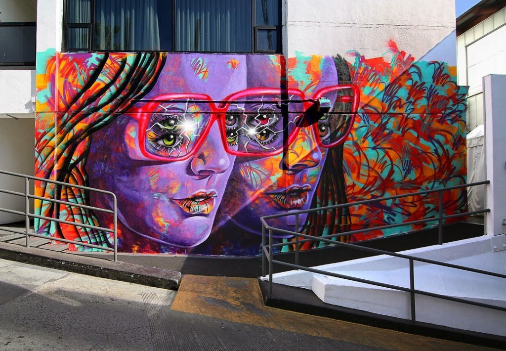 Madsteez creates a new mural at the Mondrian in Los Angeles, USA