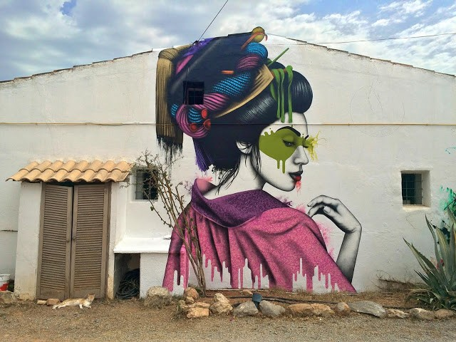 """Melnagai"", a new mural by Fin DAC in Ibiza, Spain"