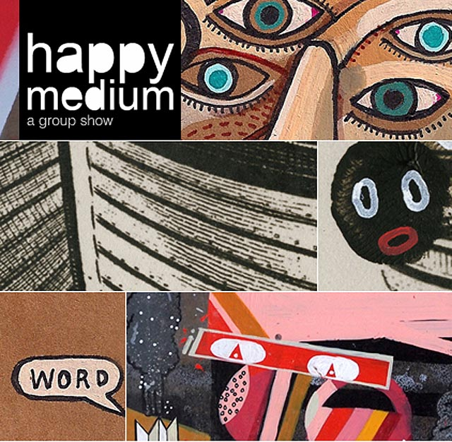 """Happy Medium"" New London Group Show With Sickboy, Jaybo Monk, David Shillinglaw… March 8th"