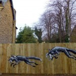 "Phlegm ""Urban Foxes"" New Street Piece – Sheffield, UK"