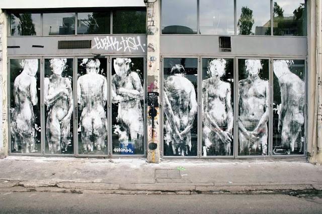 """Borondo """"Shame"""" New Street Piece – Athens, Greece"""