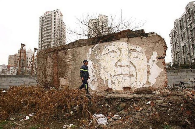 Vhils New Murals In Shanghai, China (Part II)