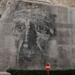 Vhils New Mural In Covilha, Portugal