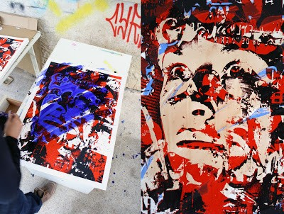 "Vhils ""Out Of Your Comfort Zone"" New Print Available Now"