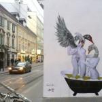 "VinZ ""Swan Lake"" New Mural In Vienna, Austria"
