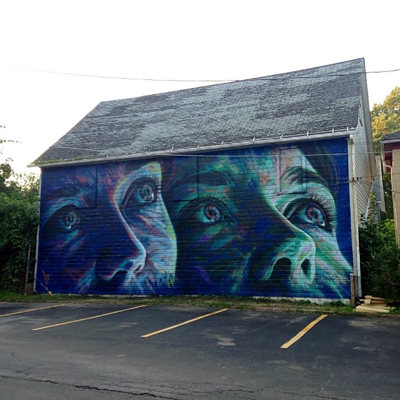 David Walker New Mural For Wall Therapy '14 – Rochester, USA