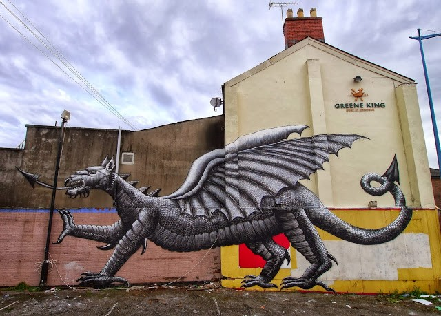 Phlegm New Mural For Empty Walls Festival '13 – Cardiff, Wales
