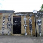 Phlegm creates a new street piece in Waltham Forest, London