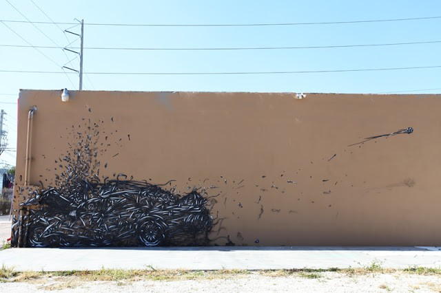 "DALeast ""7:01"" New Mural In Miami, USA"