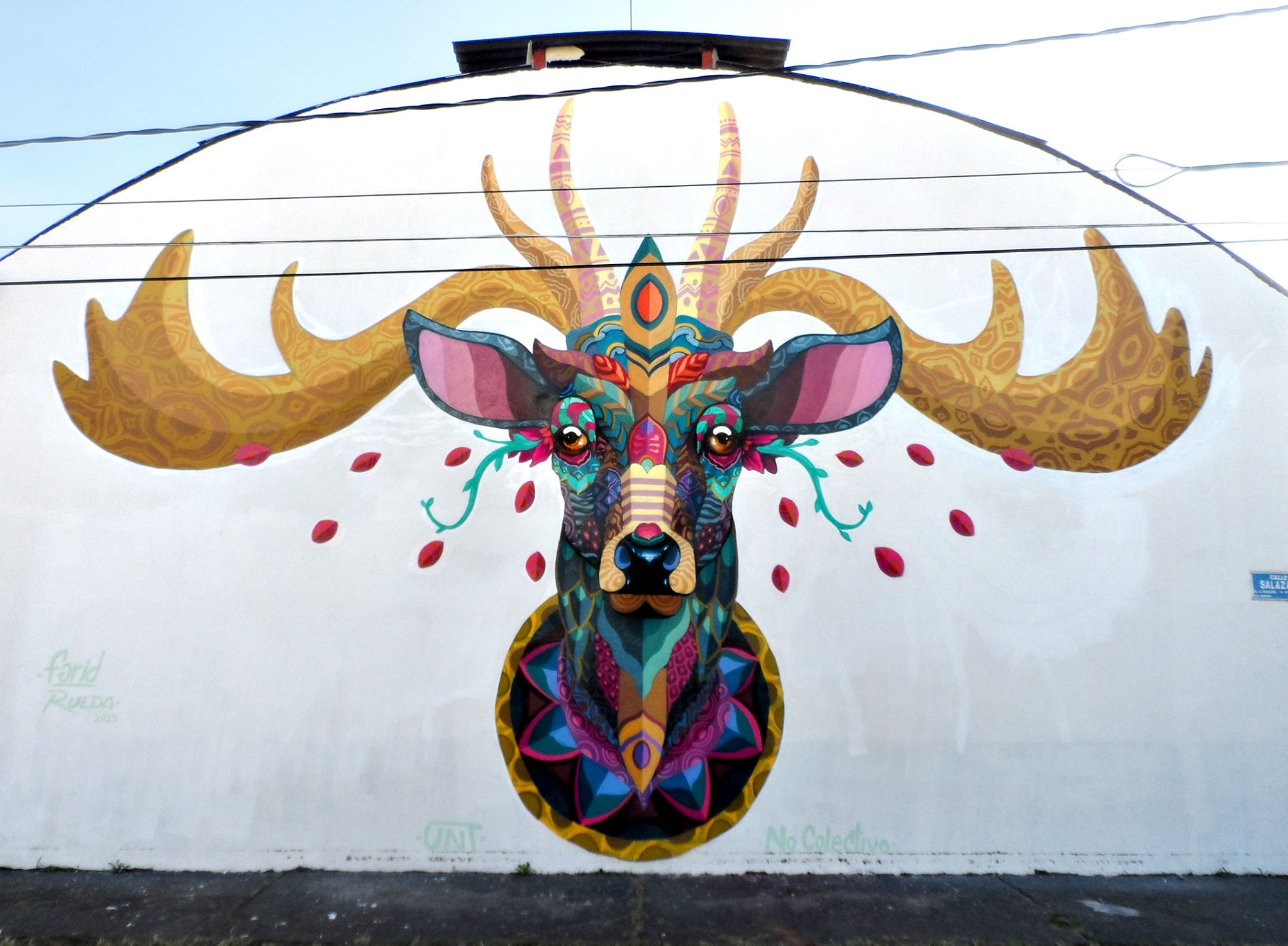 Farid rueda newest mural in uruapan mexico for Arte mural en mexico