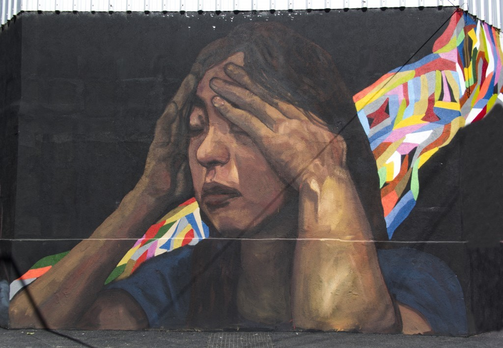Several murals by EVER appear in Buenos Aires