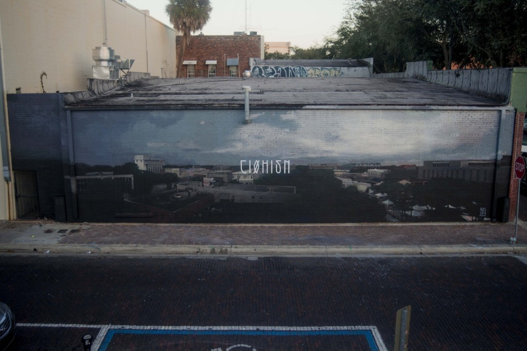 """""""C10H15N"""", a new mural by Axel Void in Gainesville, Florida"""