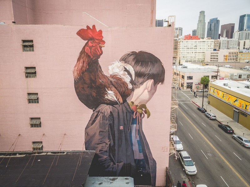 """Mr. Rooster"" by Etam Cru in Los Angeles"