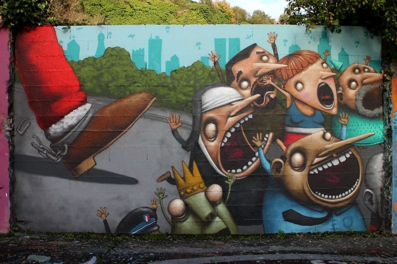 """Santa"" by Ador in Nantes, France"