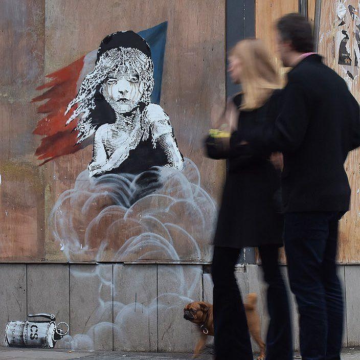 """Banksy """"The Miserables"""" in London, UK"""