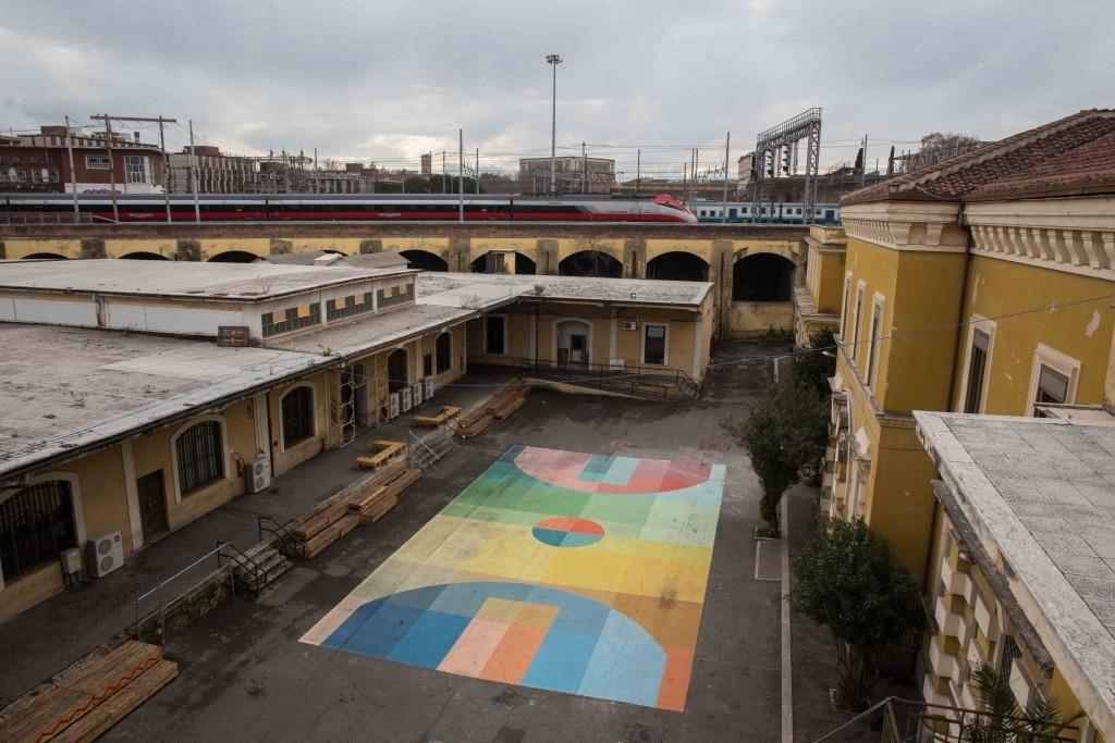 """Basket Court"" by Alberonero in Rome"