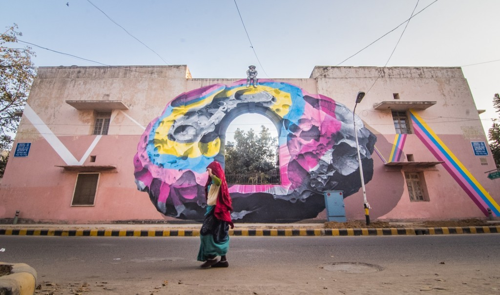 St+Art India: Never Crew in Lodhi Colony, New Delhi