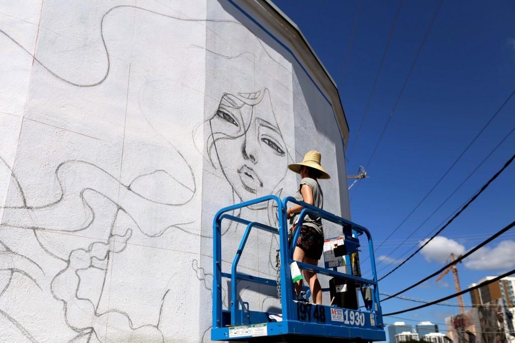 Pow! Wow!: Work In Progress by Audrey Kawasaki in Hawaii