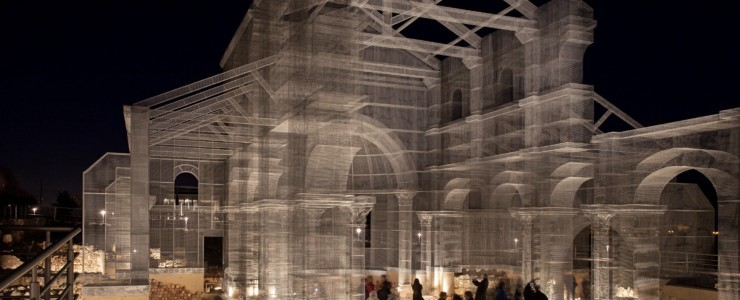 """Metal Church"" a giant Installation by Edoardo Tresoldi in Siponto, Italy"