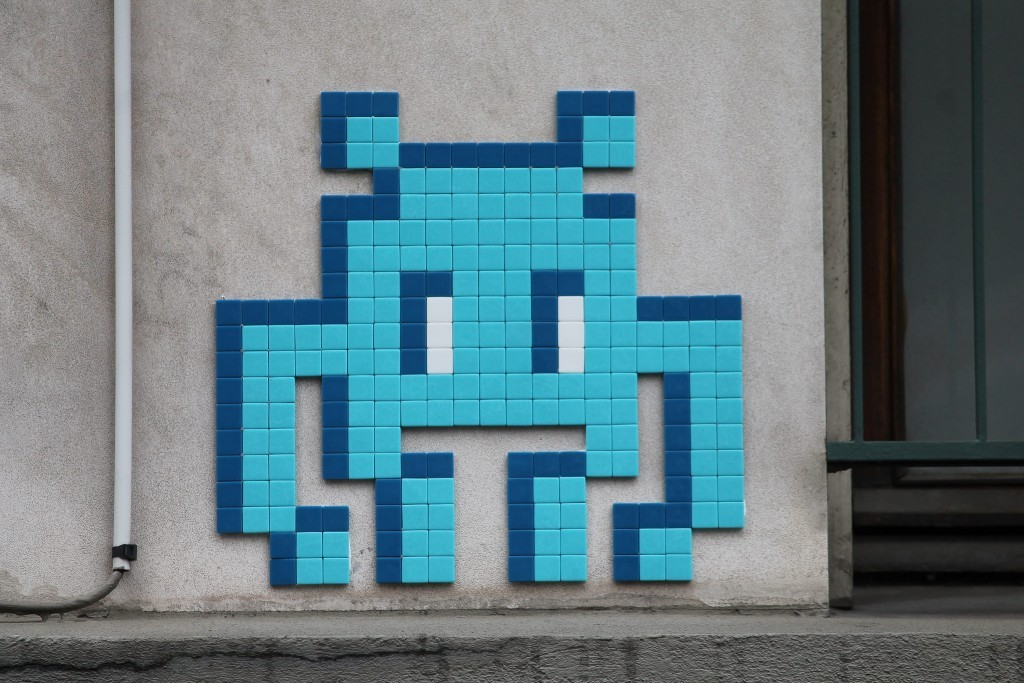 """""""PA_1197 & PA_1198"""" by Invader in Paris"""
