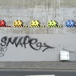 """PA_1191 – PA_1196"" fresh invasions by Invader in Paris"