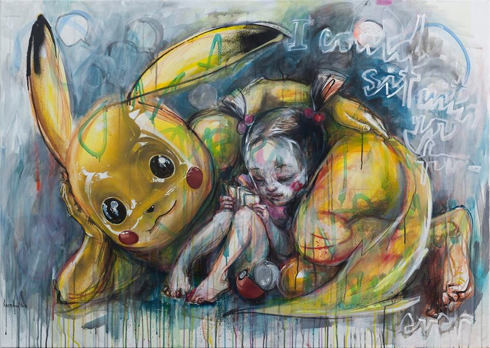 Herakut 'Masters Of Wrong' at Corey Helford Gallery