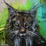 """""""Lynx"""" an installation by Bordalo II in Viseu, Portugal"""